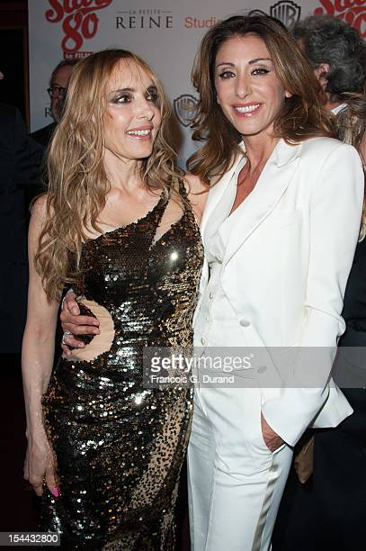 Jeanne Mas and Sabrina Salerno attend 'Stars 80' Film Premiere at Le Grand Rex on October 19 2012 in Paris France