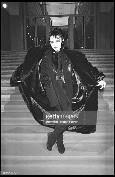 Jeanne Mas at ParisMatch 'trophy night' in 1986
