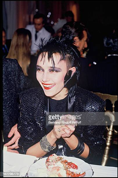 Jeanne Mas at ParisMatch trophy night in 1986