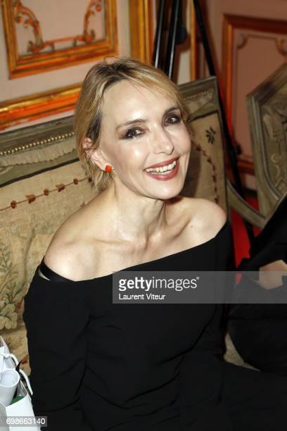 Jeanne Mas attends the Bernard Depoorter Spring/Summer 2018 show as part of Paris Fashion Week on June 20 2017 in Paris France