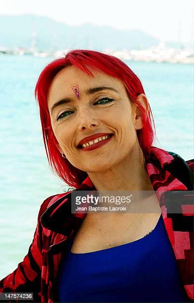 Jeanne Mas during Cannes 2001 Jeanne Mas Portraits at Palais des festivals in Cannes France