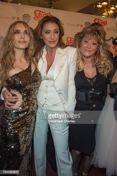 Jeanne Mas Sabrina Salerno and Sloane attend the 'Stars 80' Film Premiere at Le Grand Rex on October 19 2012 in Paris France