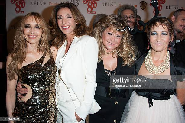 Jeanne Mas Sabrina Salerno Sloane and Caroline Loeb attend 'Stars 80' Film Premiere at Le Grand Rex on October 19 2012 in Paris France