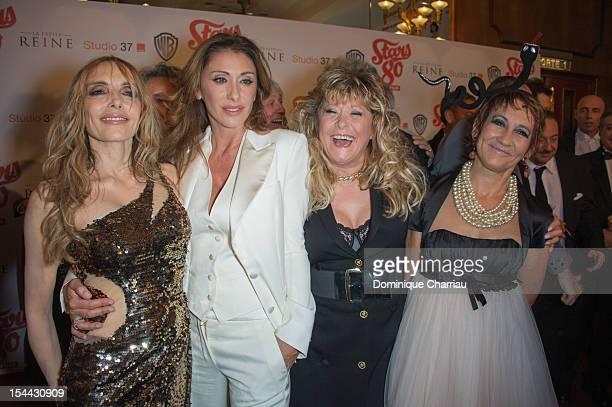 Jeanne Mas Sabrina Salerno Sloane and Caroline Loeb attend the 'Stars 80' Film Premiere at Le Grand Rex on October 19 2012 in Paris France