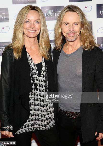 Jeanne Mason and Styx's Tommy Shaw attend Inspire Nashville 2: A Celebration for Possibilities, Inc. At Marathon Music Works on October 14, 2014 in...