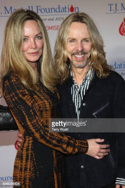 Jeanne Mason and Tommy Shaw of Styx arrive at the T.J. Martell Foundation 9th Annual Nashville Honors Gala at Omni Hotel on February 27, 2017 in...