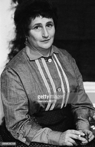 Jeanne Modigliani Daughter of Painter Amedeo Modigliani And Jeanne Hebuterne in Paris France circa 1960