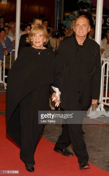 Jeanne Moreau and Bruno Ganz during 2006 San Sebastian International Film Festival Final Ceremony in San Sebastian Spain
