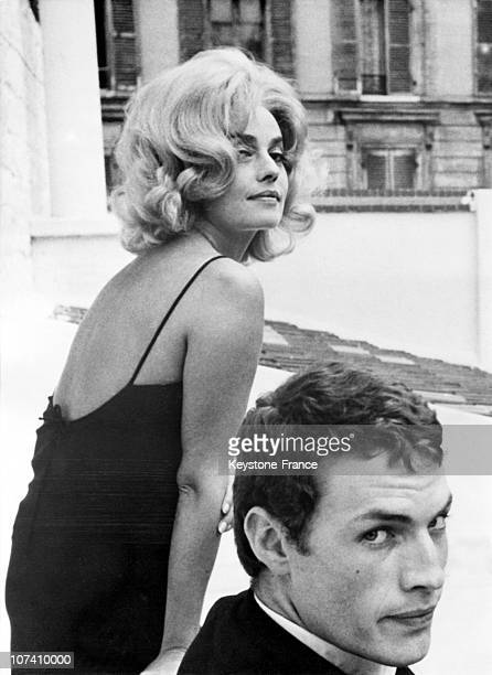 Jeanne Moreau And Claude Mann Before La Baie Des Anges Filming On September 12Th 1962.