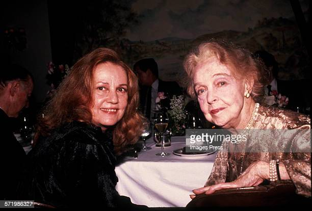 Jeanne Moreau and Lillian Gish circa 1983 in New York City