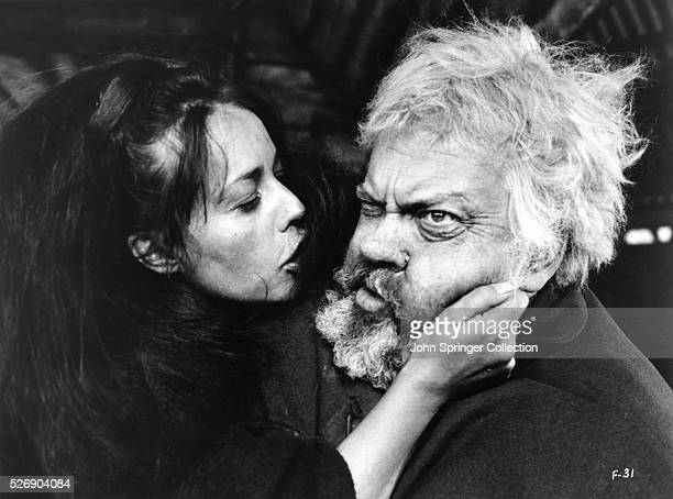 Jeanne Moreau and Orson Welles in Campanadas a Medianoche 1965