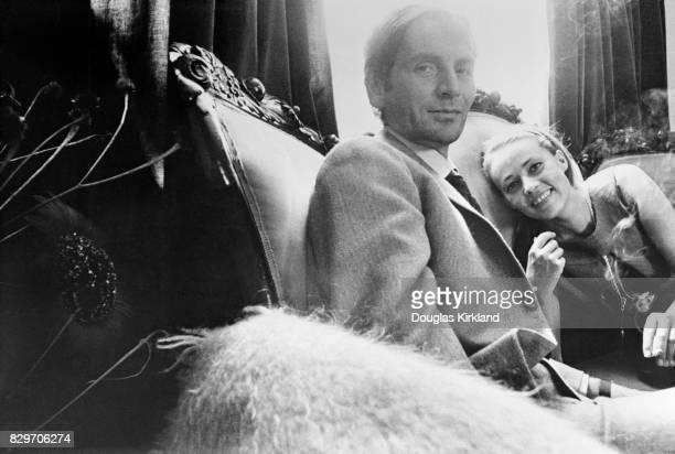Jeanne Moreau and Pierre Cardin in Cuernavaca Mexico 1965