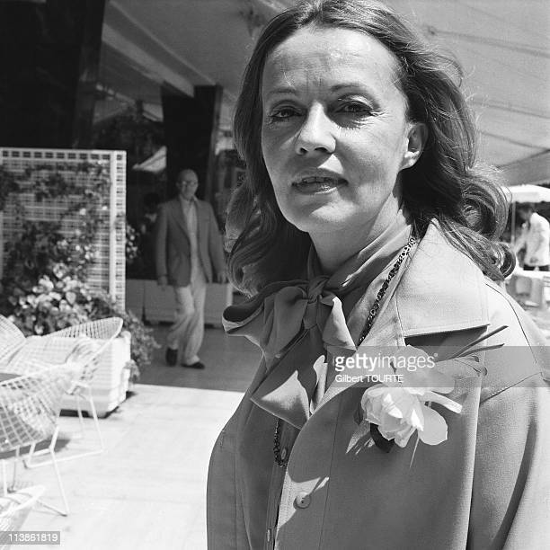 Jeanne Moreau at Cannes Film Festival in 1976 in Cannes France