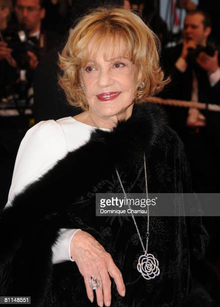 Jeanne Moreau attends the Vicky Cristina Barcelona premiere at the Palais des Festivals during the 61st Cannes International Film Festival on May 17...