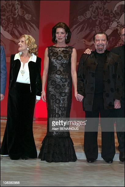 Jeanne Moreau Caroline Maurice Bejart in Monaco on December 14 2002