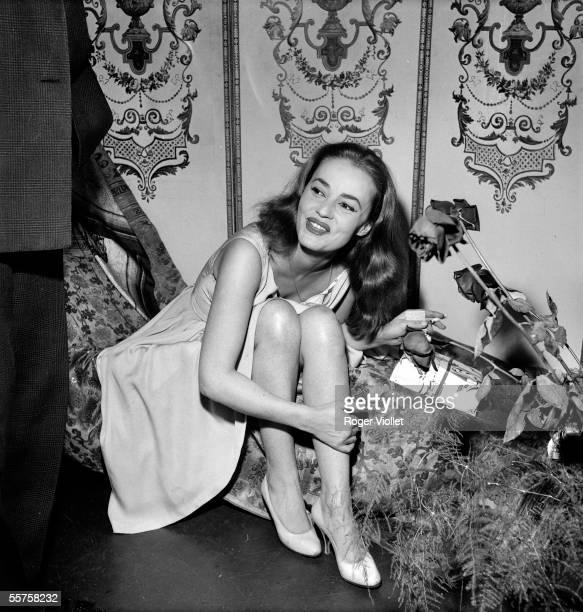 Jeanne Moreau French actress Paris november 1958