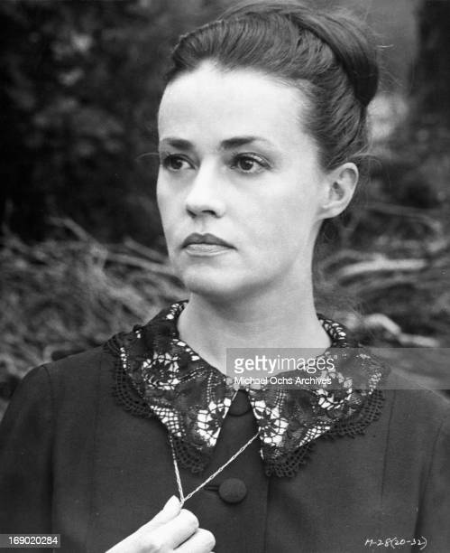 Jeanne Moreau in a scene from the film 'Mademoiselle', 1966.