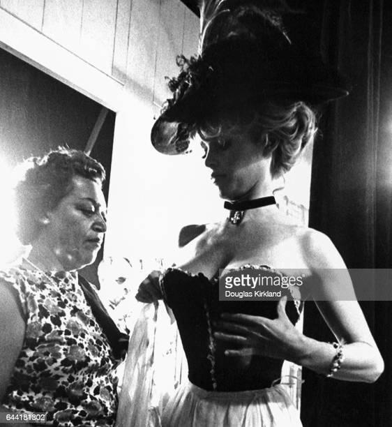 Jeanne Moreau on Set of Viva Maria