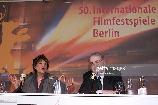 Jeanne Moreau Und Moritz De Hadeln Geben Pk Zum Ehrenpreis Von Der Berlinale