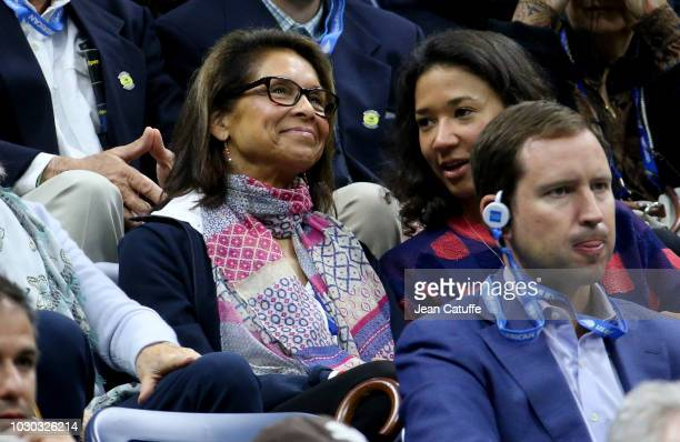 Jeanne MoutoussamyAshe widow of Arthur Ashe attends the men's final on day 14 of the 2018 tennis US Open on Arthur Ashe stadium at the USTA Billie...