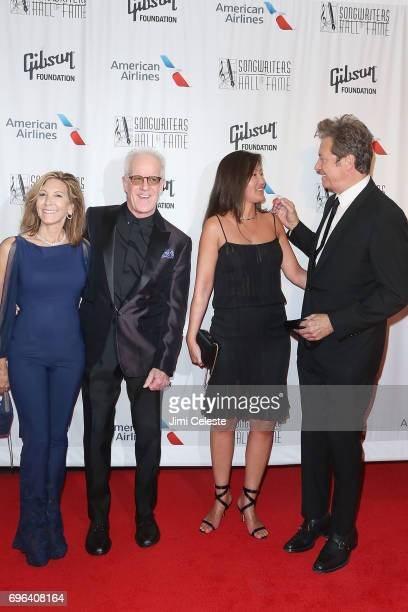 Jeanne Pacelli James Pankow guest and Robert Lamm attend the Songwriters Hall Of Fame 48th Annual Induction And Awards at New York Marriott Marquis...