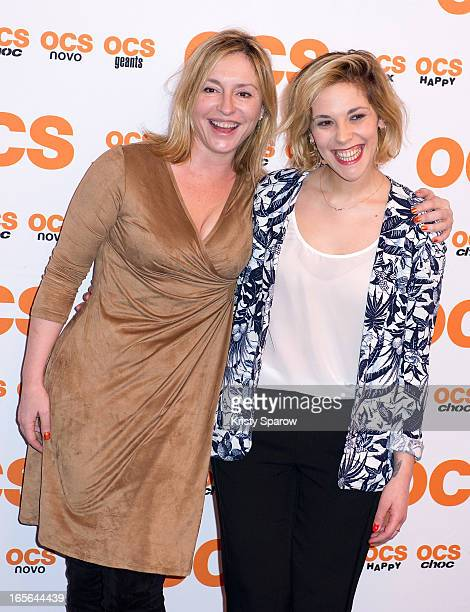 Jeanne Savary and Alysson Paradis attend the 'QI' Premiere at Forum Des Images on April 4 2013 in Paris France