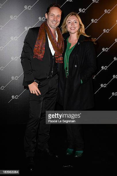 Jeanne Savary and Gregory Questel arrive at the BO Restaurant Opening at La Cite Du Cinema on October 10 2013 in SaintDenis France