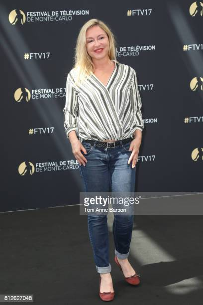 Jeanne Savary attends photocall for En Famille on June 17 2017 at the Grimaldi Forum in MonteCarlo Monaco