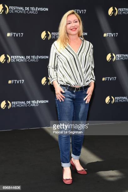 Jeanne Savary from 'En famille' attends a photocall during the 57th Monte Carlo TV Festival Day 2 on June 17 2017 in MonteCarlo Monaco