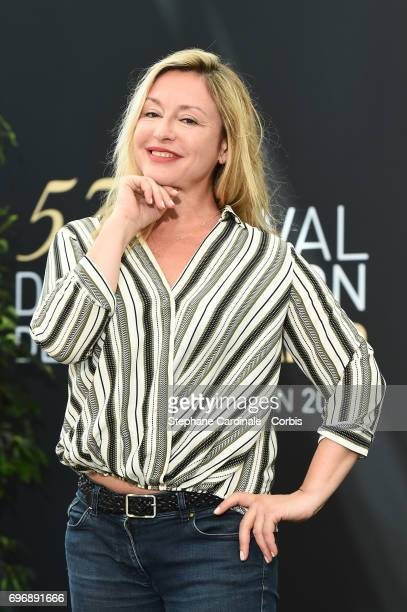 Jeanne Savary from TV Show 'En famille' poses for a Photocall during the 57th Monte Carlo TV Festival Day Two on June 17 2017 in MonteCarlo Monaco