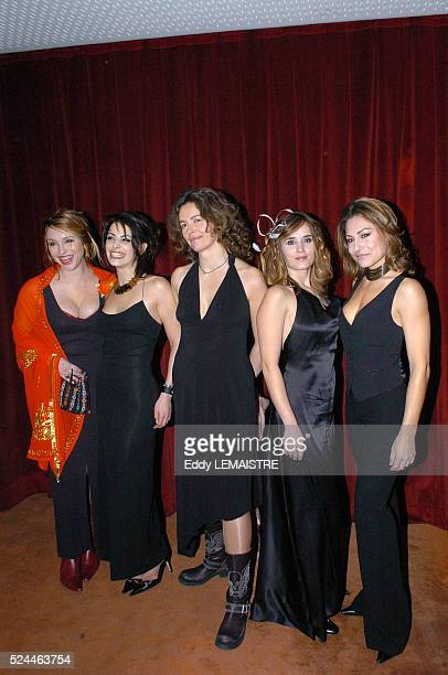 Jeanne Savary Noemie ElbazKapler Sylvie Loeillet Valerie Decobert and Shirley Bousquet attend the premiere of Espace Detente in Paris