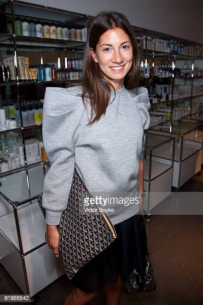 Jeanne Signoles attends a celebration of an opening for the Rodarte shop and gallery at Colette on October 5 2009 in Paris France