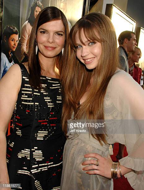 """Jeanne Tripplehorn and Daveigh Chase during """"Big Love"""" Season Two Premiere - Red Carpet at Arclight Cinerama Dome in Hollywood, California, United..."""