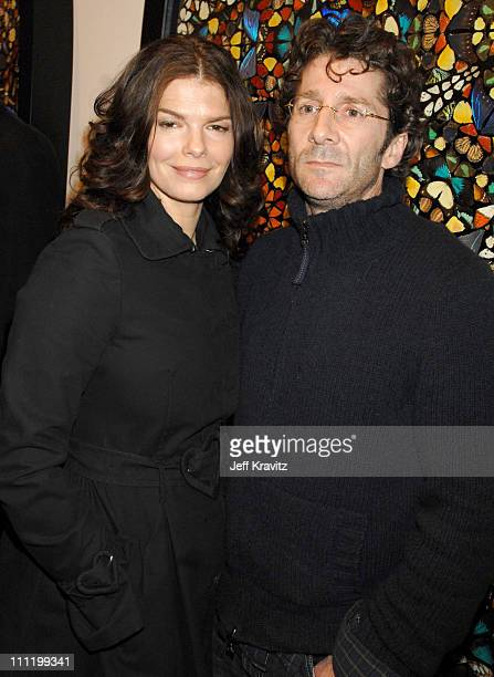Jeanne Tripplehorn and Leland Orser during Damien Hirst Superstition Opening Reception February 22 2007 at Gagosian Gallery in Beverly Hills...