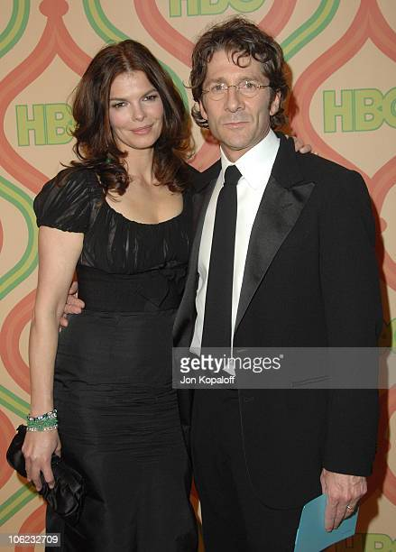 Jeanne Tripplehorn and Leland Orser during HBO Golden Globes After Party Arrivals at Beverly Hilton Hotel in Beverly Hills California United States