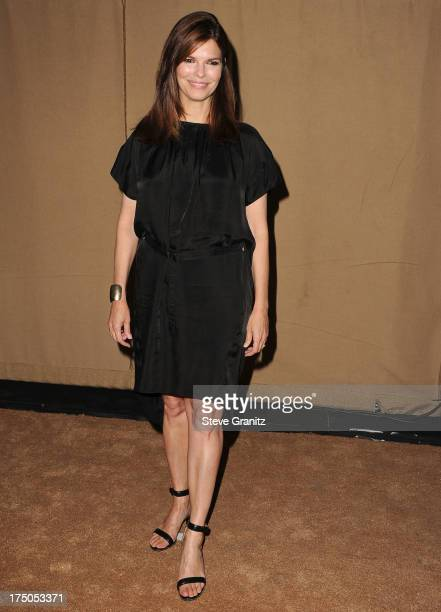 Jeanne Tripplehorn arrives at the Television Critic Association's Summer Press Tour CBS/CW/Showtime Party at 9900 Wilshire Blvd on July 29 2013 in...