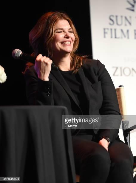 Jeanne Tripplehorn attends the 2018 Sun Valley Film Festival - Coffee Talk with Jeanne Tripplehorn on March 16, 2018 in Sun Valley, Idaho.