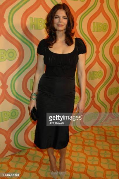 Jeanne Tripplehorn during HBO 2007 Golden Globe After Party Red Carpet at Beverly Hilton in Los Angeles California United States