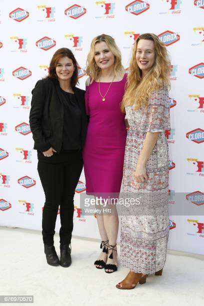 Jeanne Tripplehorn Geena Davis and Courtney Moorehead Balaker attend 3rd Annual Bentonville Film Festival on May 2 2017 in Bentonville Arkansas
