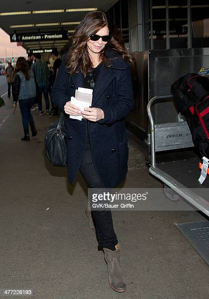Jeanne Tripplehorn is seen at LAX on March 07 2014 in Los Angeles California