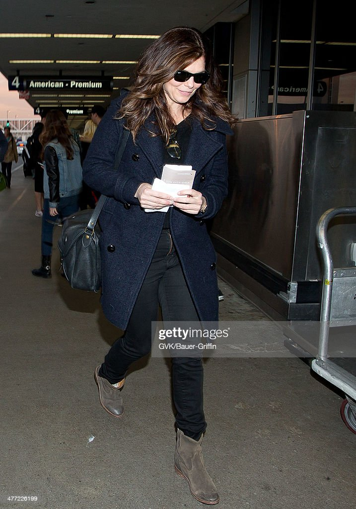 Jeanne Tripplehorn is seen at LAX on March 07, 2014 in Los Angeles, California.