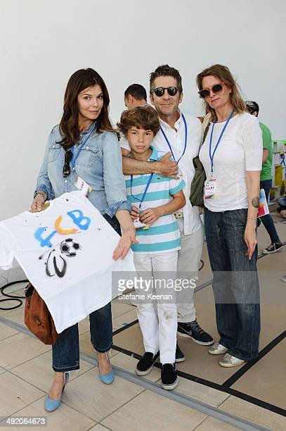 Jeanne Tripplehorn Leland Orser August Orser and Lena Wald attend Hammer Museum KAMP 2014 on May 18 2014 in Los Angeles California