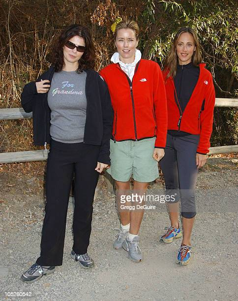Jeanne Tripplehorn, Tea Leoni & Kim Raver during 8th Annual Expedition Inspiration Take-A-Hike at Paramount Ranch in Agoura, California, United...