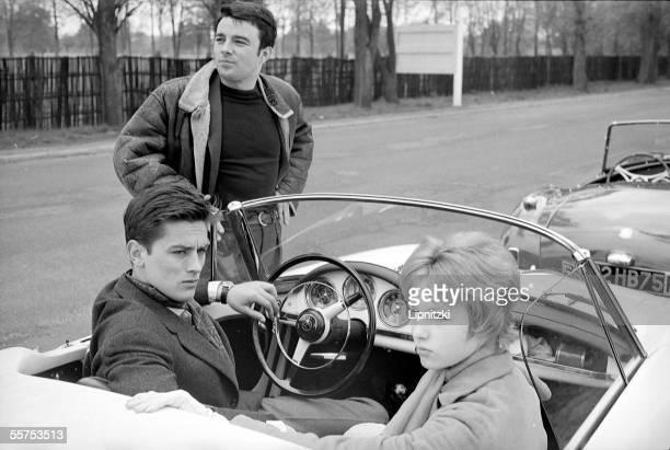 Jeanne Valerie Alain Delon and Gerard Blain April 1959 LIP33871011
