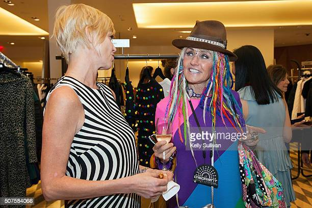 Jeanne Walsh and Deb Windham socialize at Barneys New York on January 29 2016 in San Francisco California