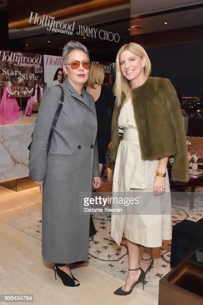 Jeanne Yang and Petra Flannery attend The Hollywood Reporter and Jimmy Choo Power Stylists Dinner on March 20 2018 in Los Angeles California