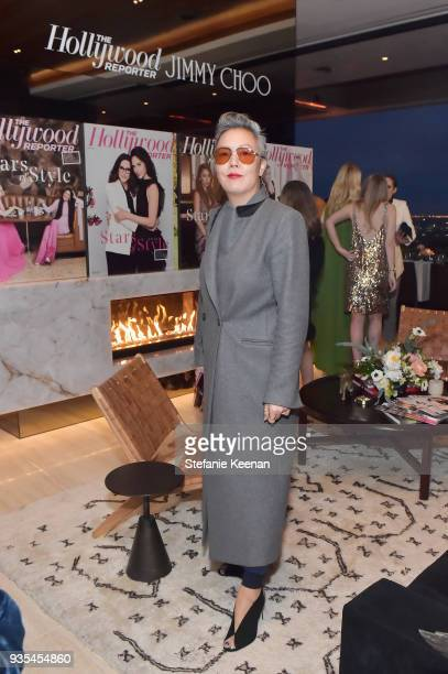Jeanne Yang attends The Hollywood Reporter and Jimmy Choo Power Stylists Dinner on March 20 2018 in Los Angeles California