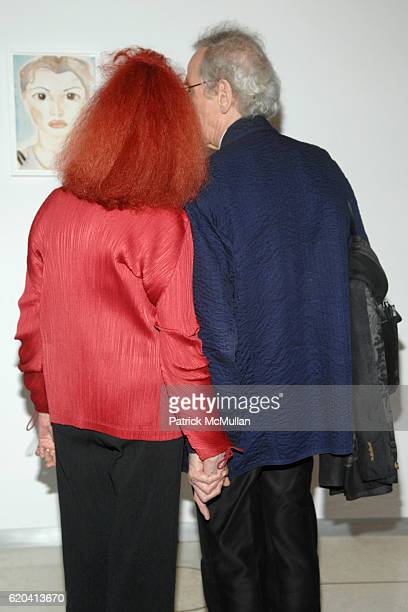 JeanneClaude and Christo attend Francesco Clemente's The Sopranos hosted by Dodie Kazanjian and presented by Max and Lubov Azria at Metropolitan...