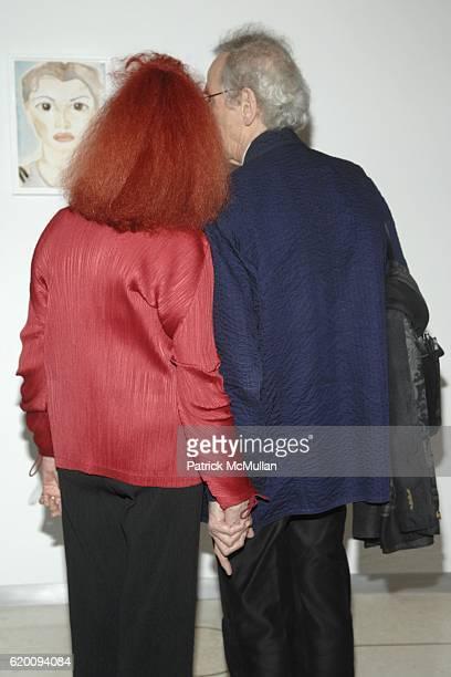 Jeanne-Claude and Christo attend In Memoriam: Jeanne-Claude Denat de Guillebon 1935 ñ 2009 at Steven Kasher Gallery on February 15, 2008 in New York...