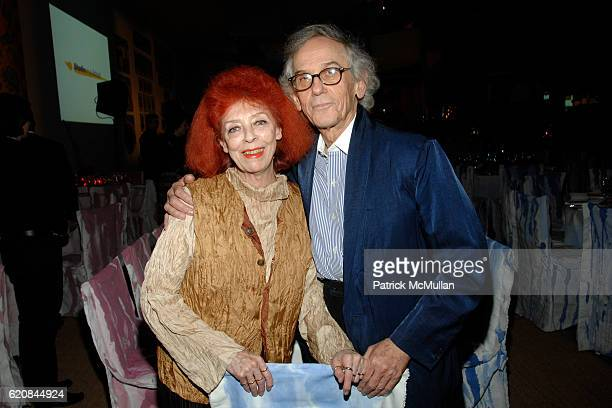 JeanneClaude and Christo attend STUDIO in a SCHOOL's 30th Anniversary Gala Honoring Dorothy Lichtenstein at Paula Cooper Gallery and Gagosian Gallery...